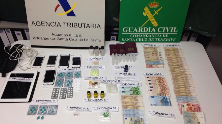 En la imagen, las sustancias requisadas a los detenidos. Foto: GUARDIA CIVIL.