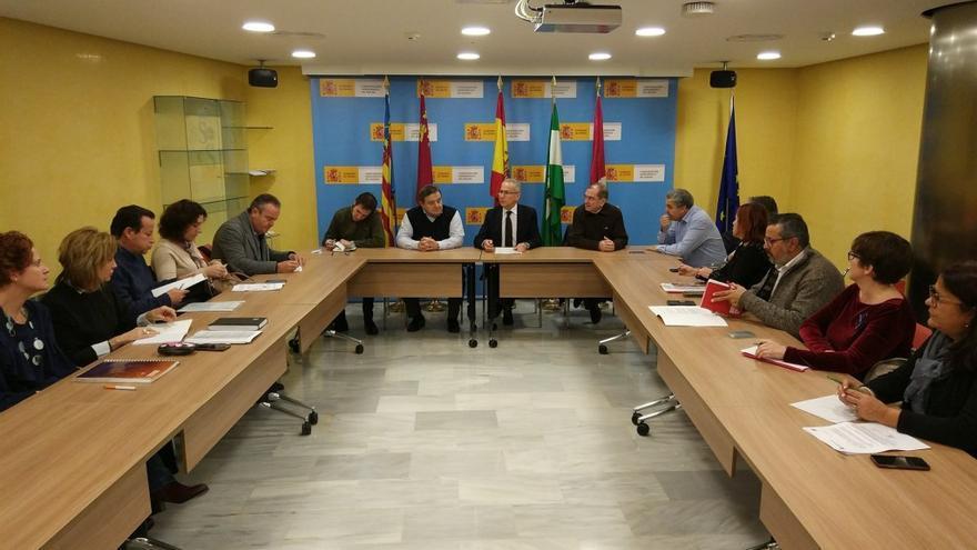 Reunión de agentes sociales con la Confederación Hidrográfica del Segura