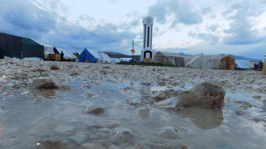 Campo de Katsikas en Grecia. Imagen tomada en agosto por de Muhammad Ali, refugiado en el propio campo.