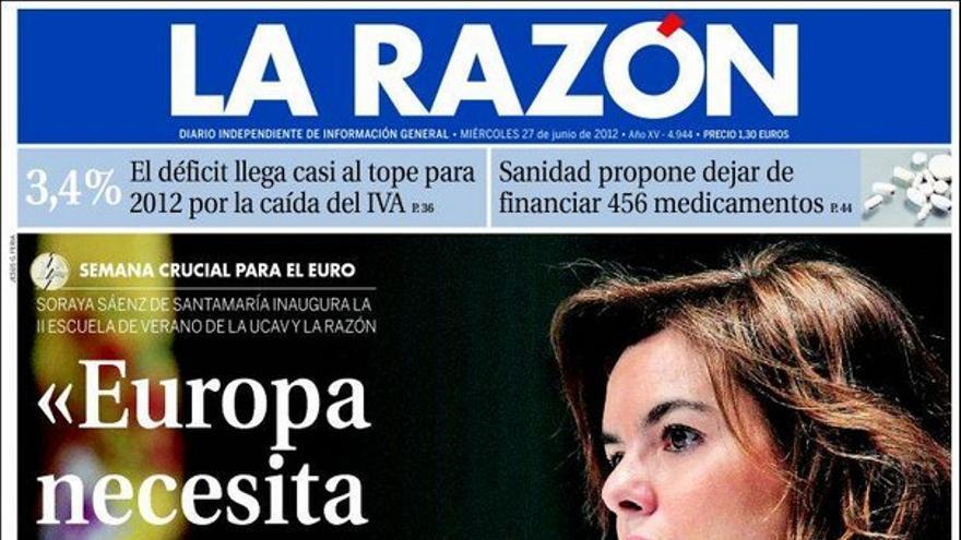 De las portadas del día (27/06/2012) #9