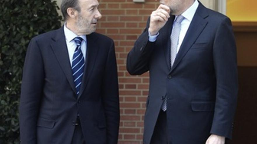 Rajoy Y Rubalcaba Se Reúnen En La Moncloa