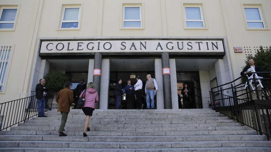 La entrada del colegio San Agustín