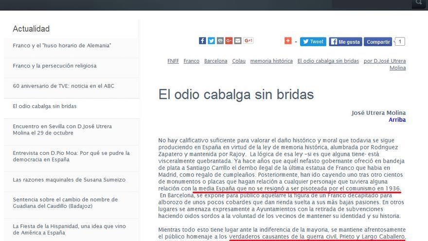 Artículo reproducido en la web de la Fundación Franco.