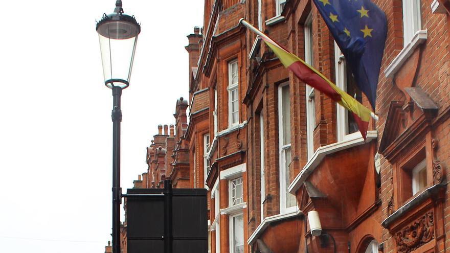 Protesta en Londres por el #7N. / Marea Granate