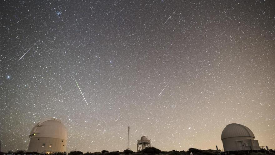 Lluvia de estrellas desde el Teide