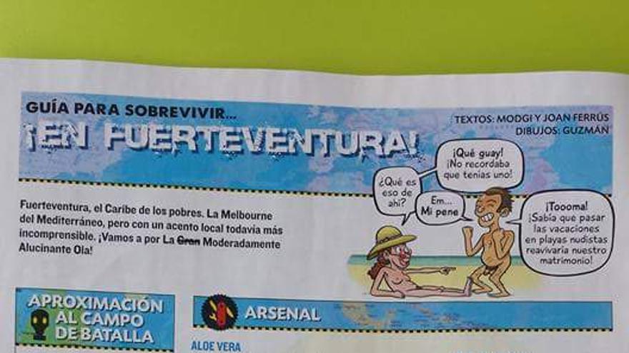 Cómo Sobrevivir en Fuerteventura, de la revista satírica El Jueves.