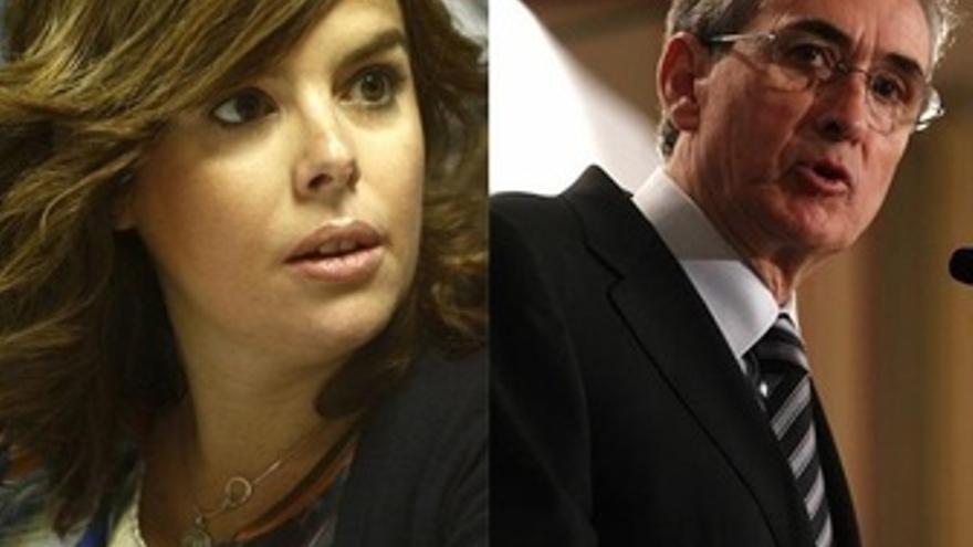 Soraya Sáenz De Santamaría Y Ramón Jáuregui