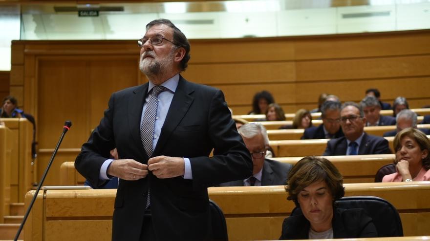 """Rajoy agradece en el Senado el apoyo del PSOE en Cataluña y pide no entrar en """"discrepancias menores"""" ni errores pasados"""