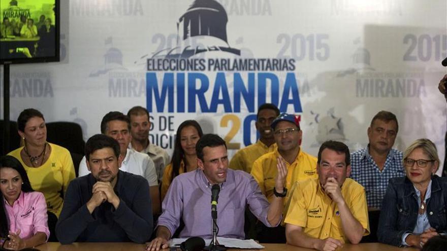 """Capriles está """"sumamente preocupado"""" por la actitud de Maduro tras los comicios"""