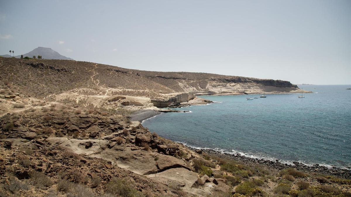 Caleta de Adeje, en el sur de Tenerife