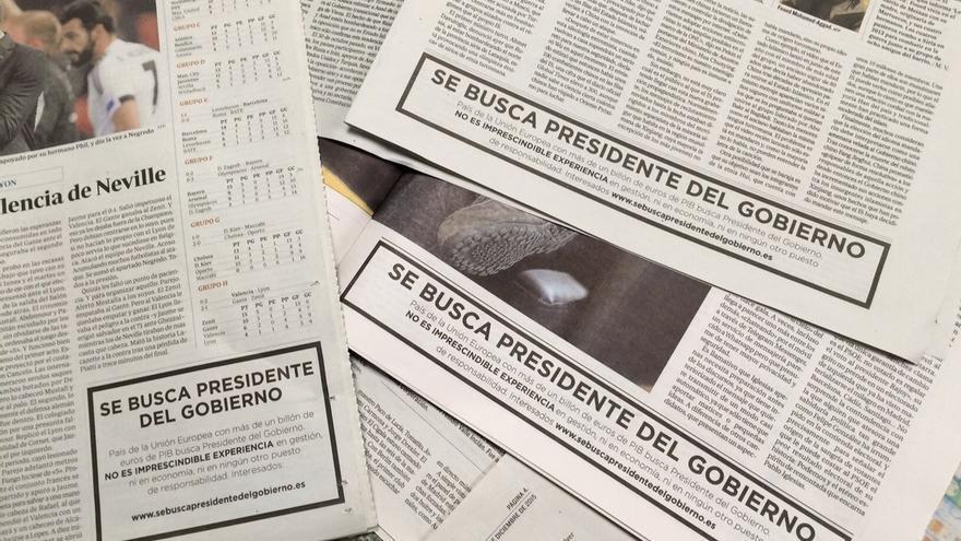 """PP lanza una campaña provocadora con el lema: """"se busca presidente del Gobierno"""" sin experiencia en gestión"""