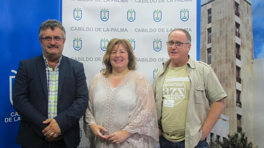 De izquierda a derecha: Primitivo Jerónimo, María del Rosario González y Miguel Ramírez.