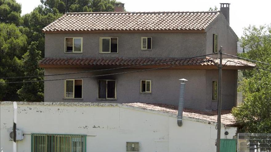 La residencia de Santa Fe tras el incendio.