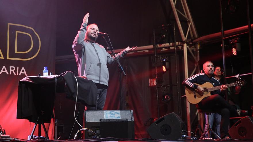 El Niño de Elche durante su concierto en el WOMAD Canarias