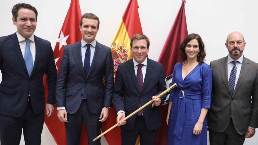 Casado, este sábado, tras la elección de José Luis Martínez-Almeida como alcalde de Madrid.