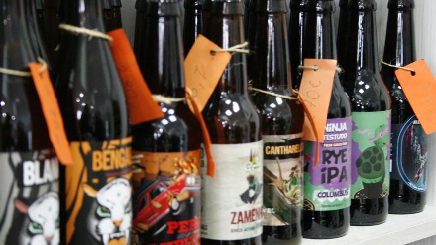 Algunas de las variedades de Cervezas Speranto / Fidel Manjavacas