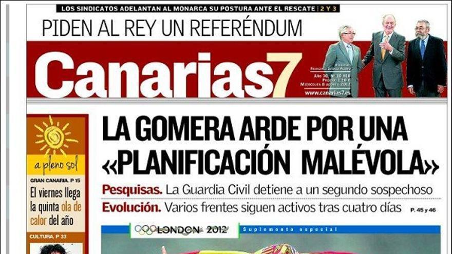 De las portadas del día (08/08/2012) #2