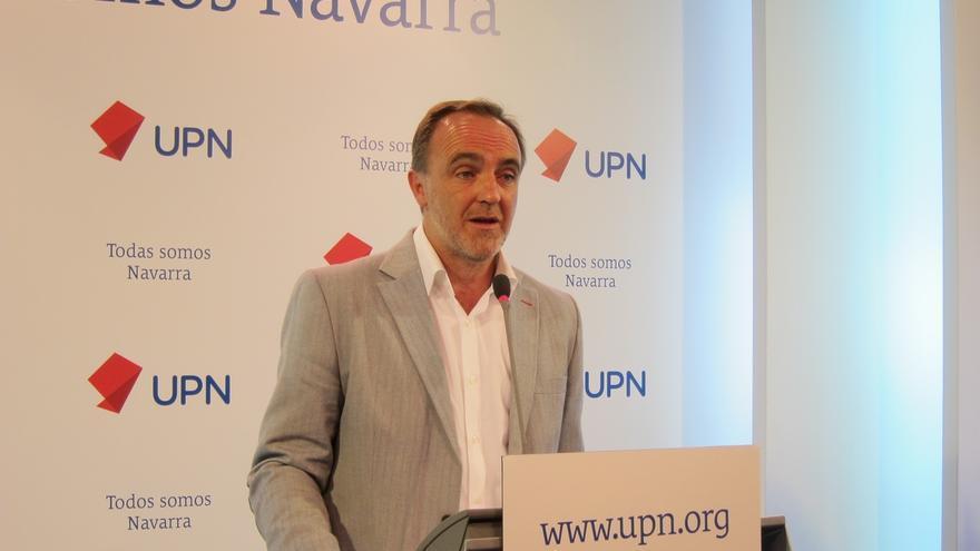 """Esparza (UPN) afirma que el Gobierno de Navarra """"no ha estado a la altura"""" con el TAV y """"ha antepuesto sus Presupuestos"""""""