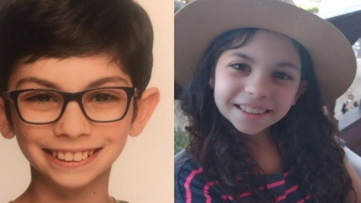 Los pequeños Kristian y Amantia de 11 y 10 años