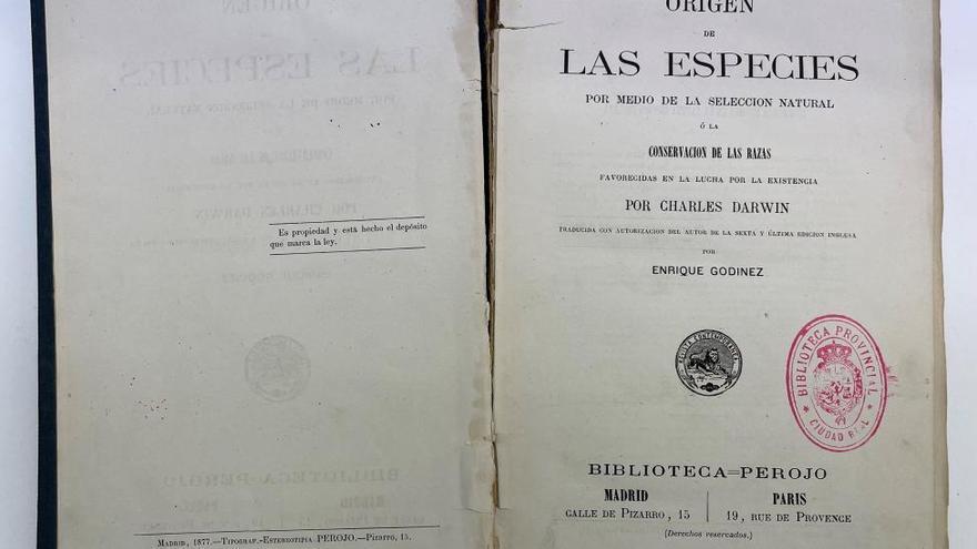 Castilla-La Mancha restaura la primera edición en español del 'Origen de las Especies' de Darwin