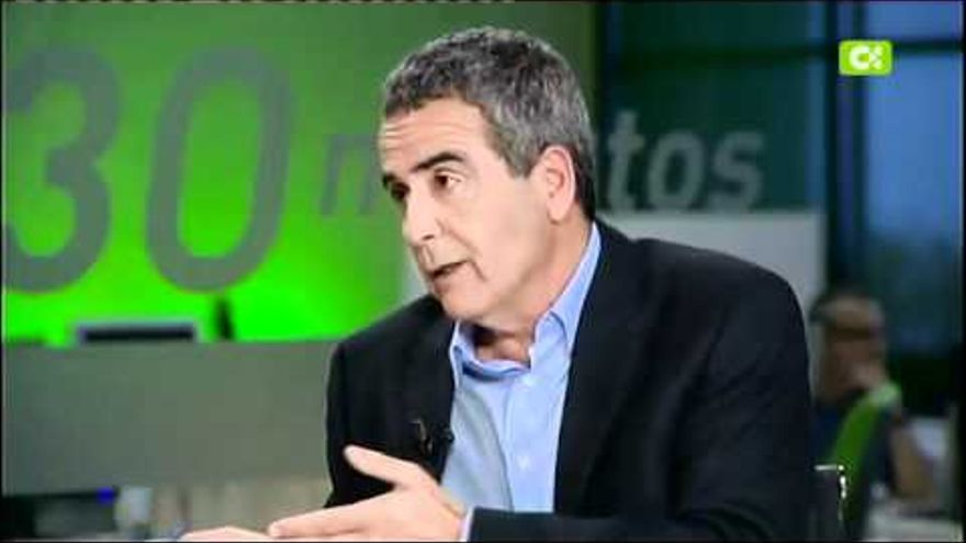 Juan Pedro Dávila, durante una entrevista en RTVC. (Archivo).
