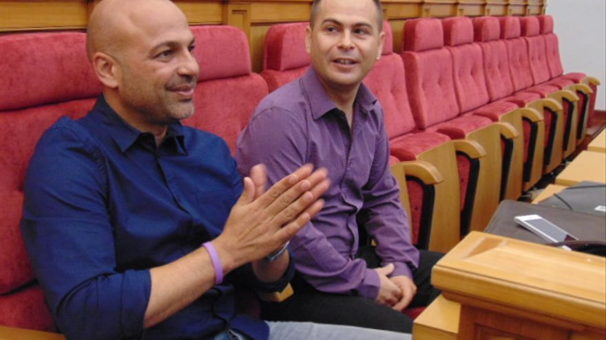 José García Molina y David Llorente, diputados de Podemos CLM / Foto: eldiarioclm.es