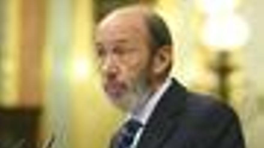 Rubalcaba, en el Congreso de los Diputados