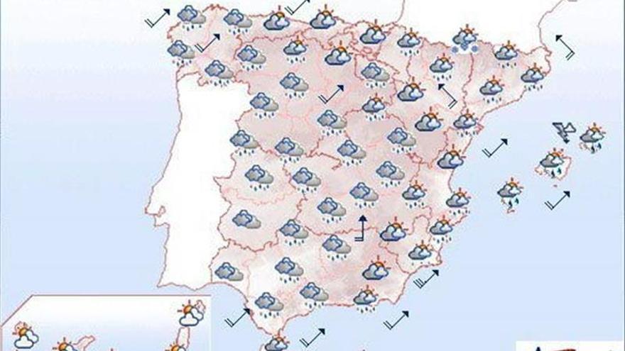 Mañana vientos fuertes en el litoral y en zonas de montaña