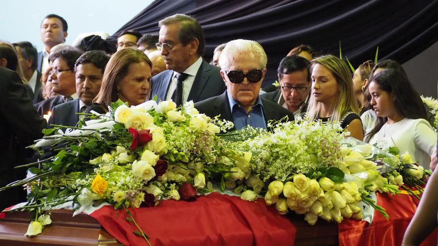 Féretro de Alan García, expresidente peruano.