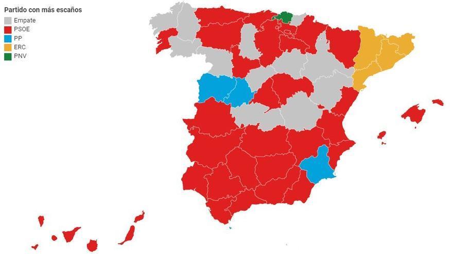 escanos provincias preelectoral