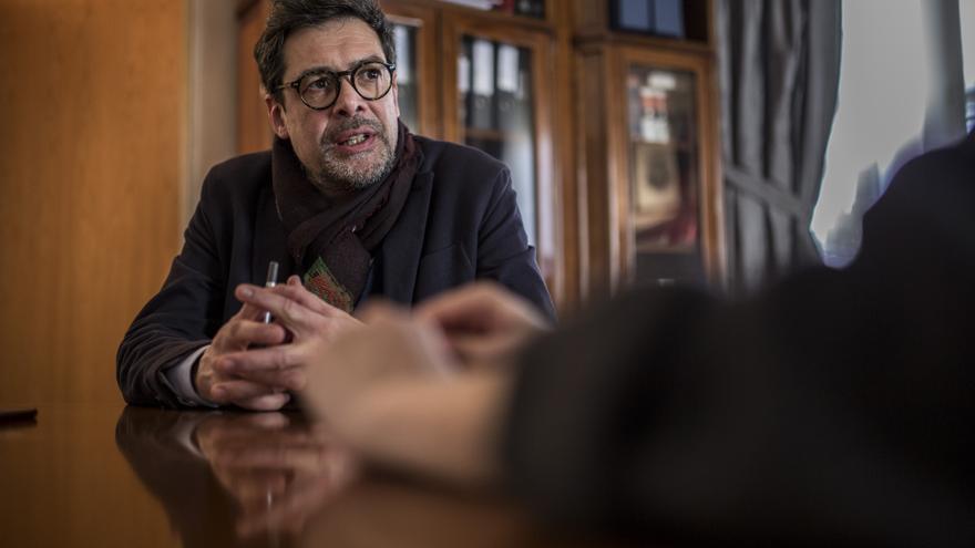 El presidente de la SGAE durante la entrevista con eldiario.es.
