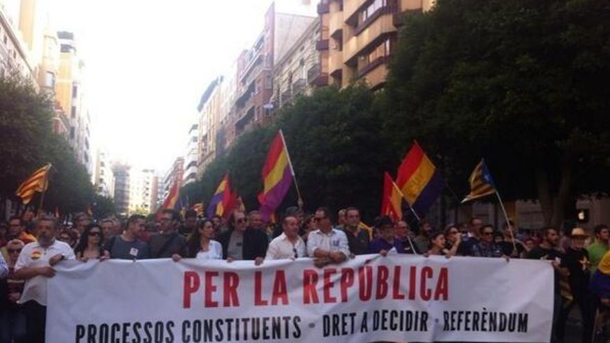 Manifestación por la república en Valencia.