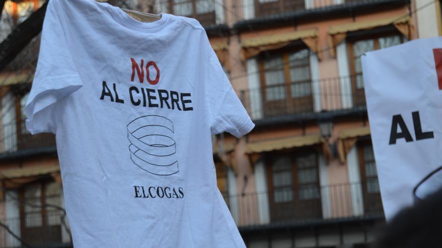 Manifestación contra el cierre de Elcogás en Toledo, 29/12/14 / Foto: Javier Robla