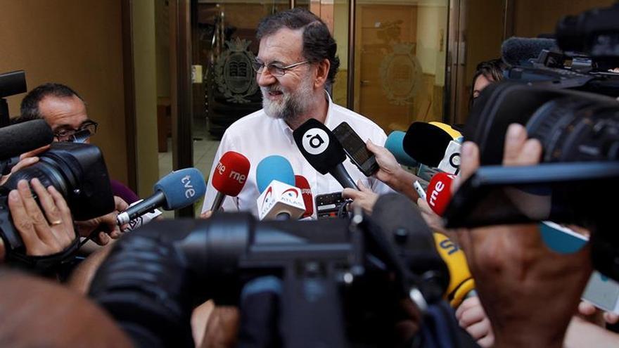 Mariano Rajoy el día que se reincorporó al Registro de Santa Pola