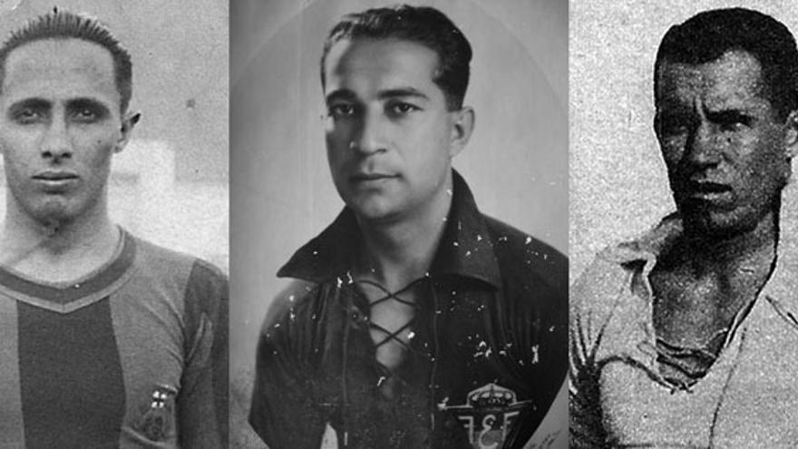 Ángel Arocha, Bernardino Semán, Joaquín Cárdenes, Rafael Morera y Francisco Martín Arencibia