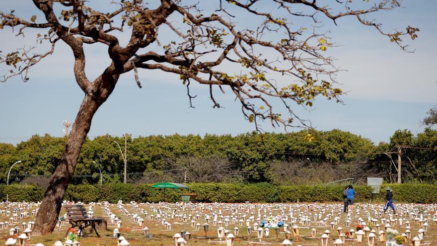 Brasil supera las 535.000 muertes por covid pese a la caída de cifras