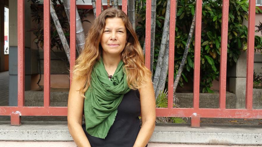 Celia Fernández prepara un nuevo viaje a los campamentos de refugiados. Foto: LUZ RODRÍGUEZ.