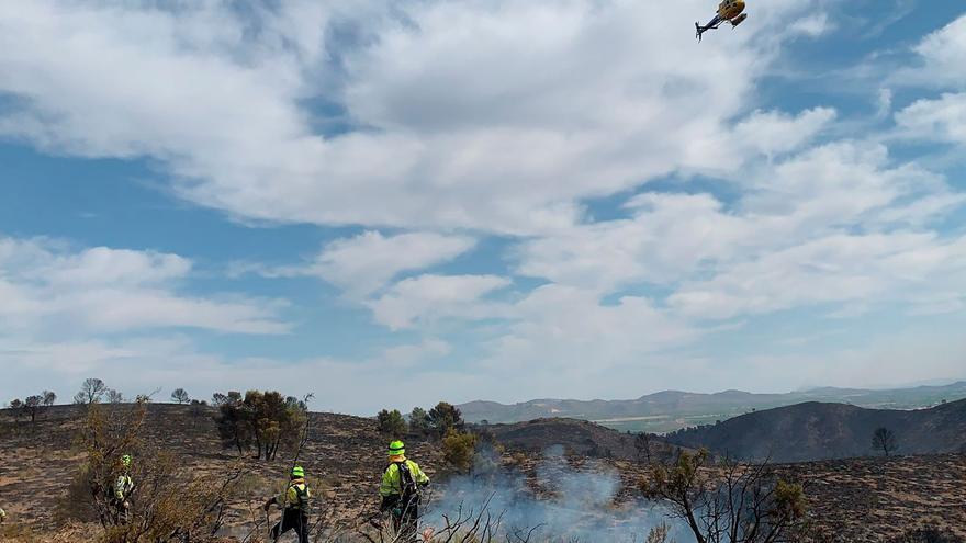 """El alcalde de Hellín califica de """"sospechoso"""" que los dos incendios de la provincia de Albacete comenzaran con un par de horas de diferencia"""