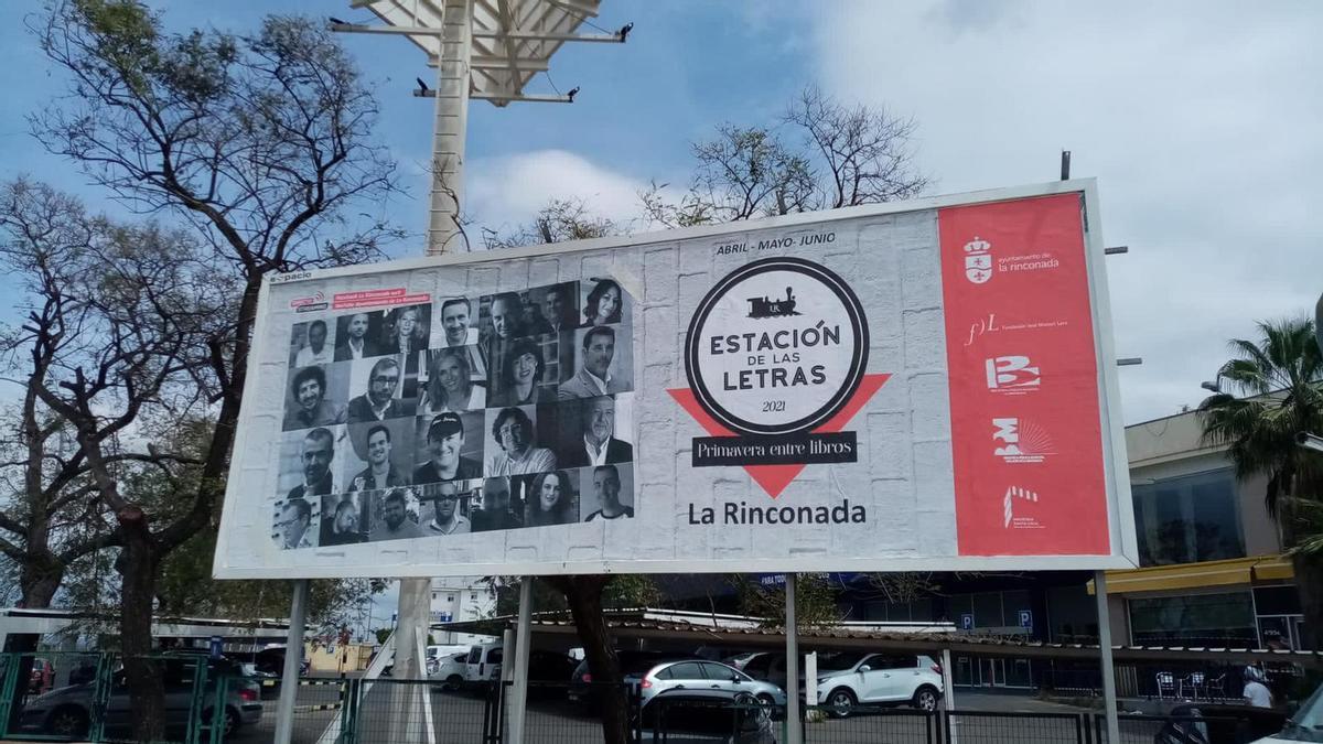 """Este es el cartel de la """"Estación de las letras"""" de La Rinconada"""