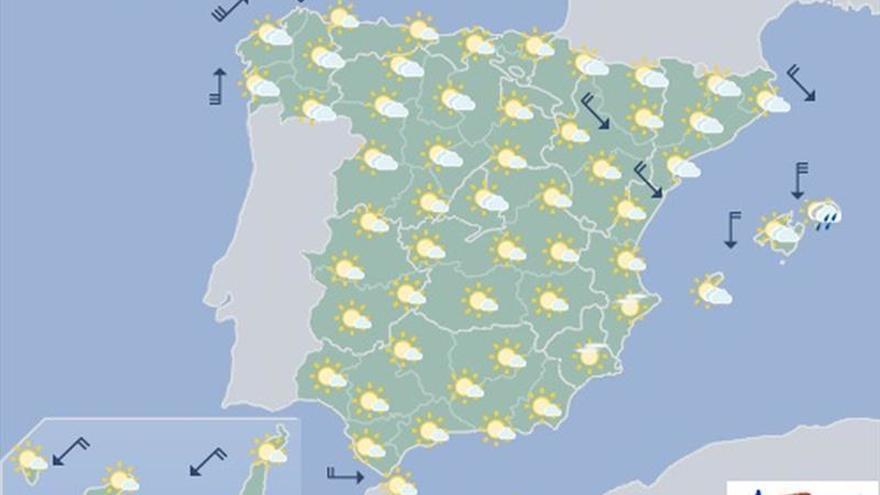 Mañana, viento fuerte en Galicia y temperaturas que recobran valores normales