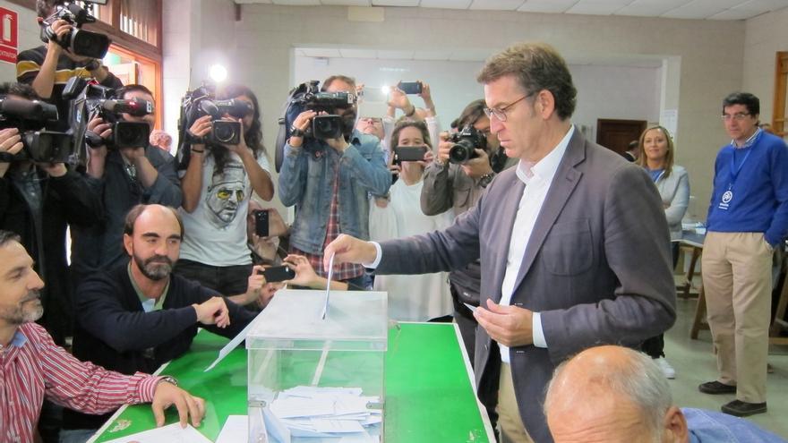 """Feijóo llama a votar para que Galicia siga su """"camino de certidumbre y bienestar"""""""