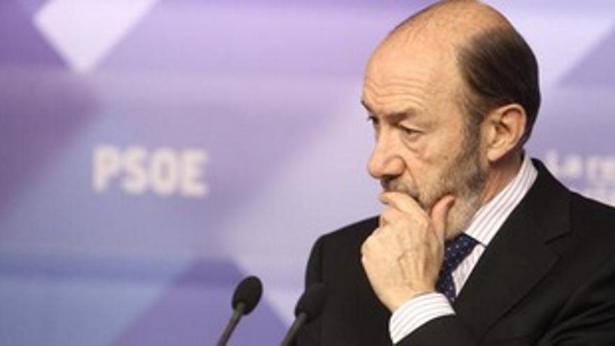 Alfredo Pérez Rubalcaba, secretario general del PSOE (EUROPA PRESS).