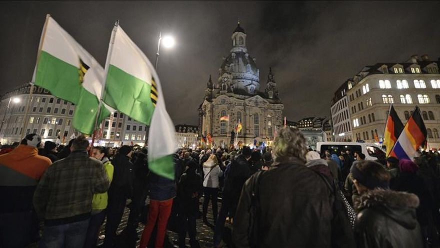 Apenas 2.000 personas en la protesta islamófoba en la ciudad alemana de Dresde