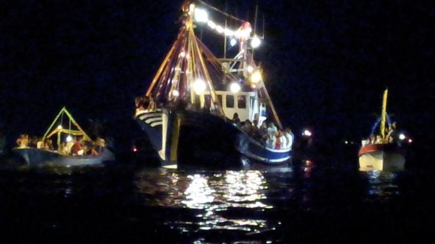 Varios barcos de la flota pesquera de la Villa y Puerto de Tazacorto (Imagen cedida por el Ayuntamiento de Tazacorte).