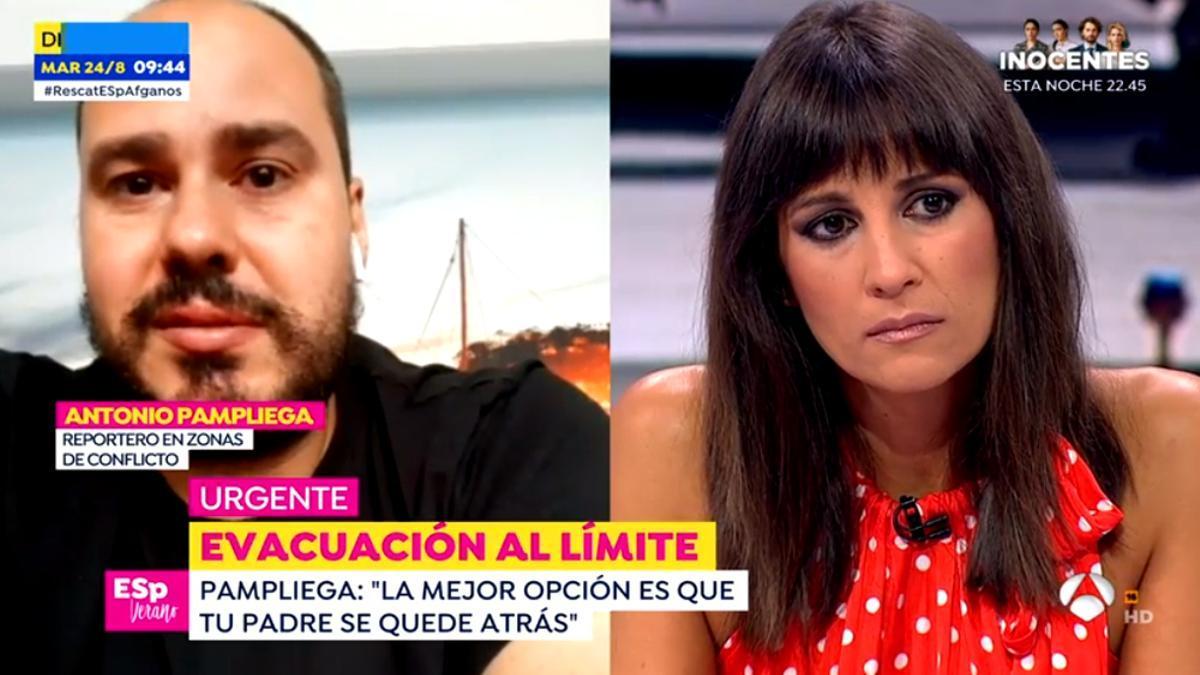 Antonio Pampliega y Lorena García, visiblemente afectados en 'Espejo Público'