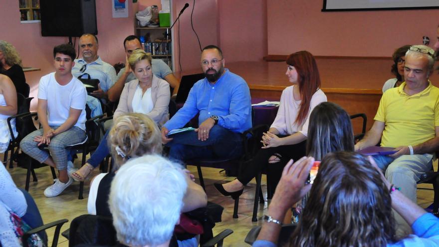 Jacinto Ortega presenta su candidatura a liderar Podemos en Las Palmas de Gran Canaria.