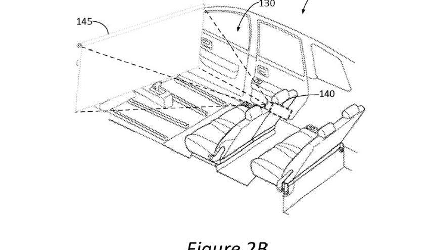 Ford patentó un coche autónomo en el que los asientos delanteros podían dar la vuelta