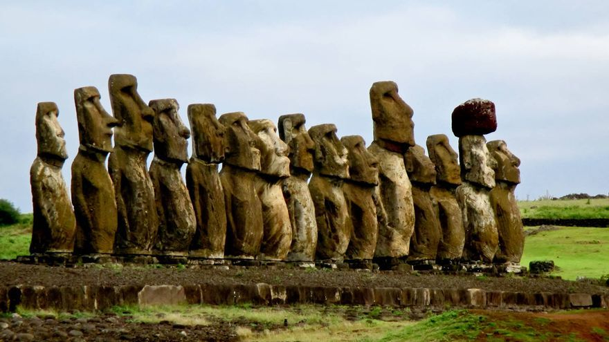 Ahu Tongariki, el recinto ceremonial más espectacular de Isla de Pascua.