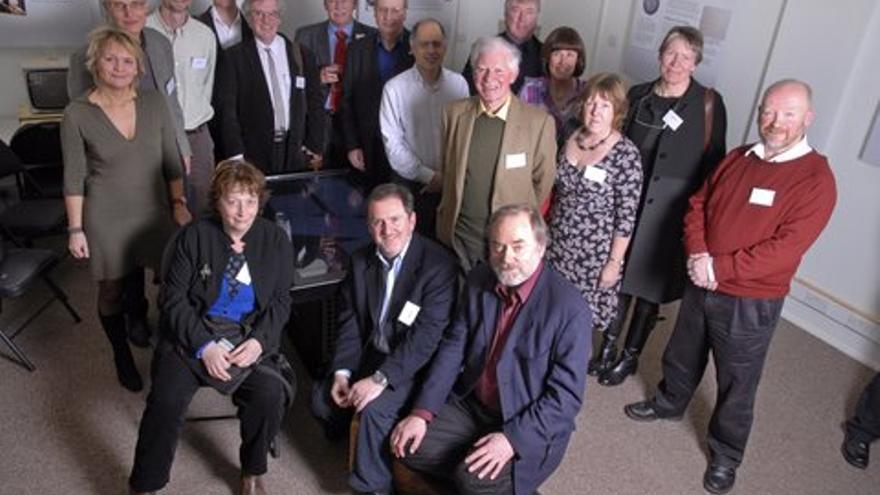 Parte del equipo creador del Domesday, en 2011, 25 aniversario del lanzamiento (Imagen: Cedida por Alex Mansfield)