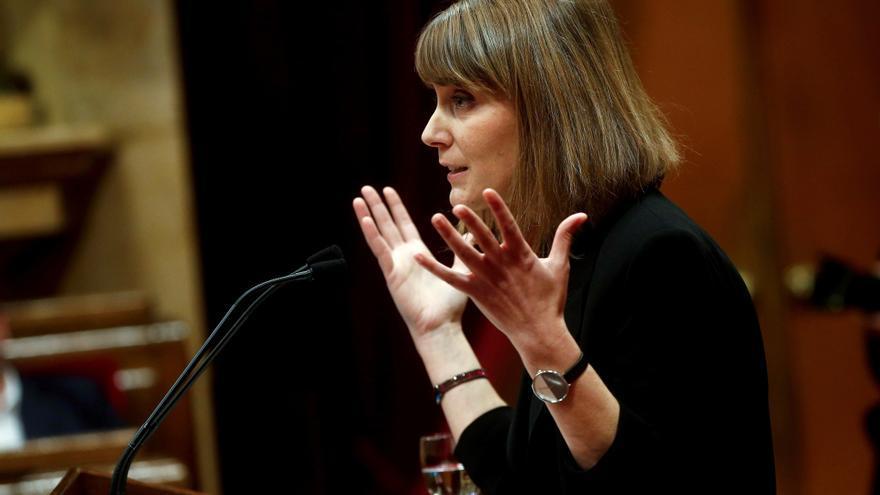 La presidenta de En Comu Podem, Jessica Albiach. EFE/Quique Garcia/Archivo